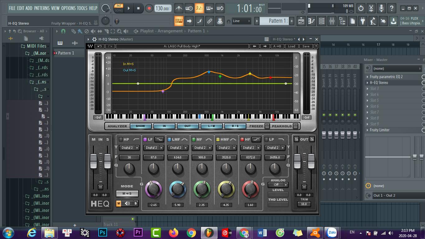 Mình đang dụng bộ wave 8 để mix EQ